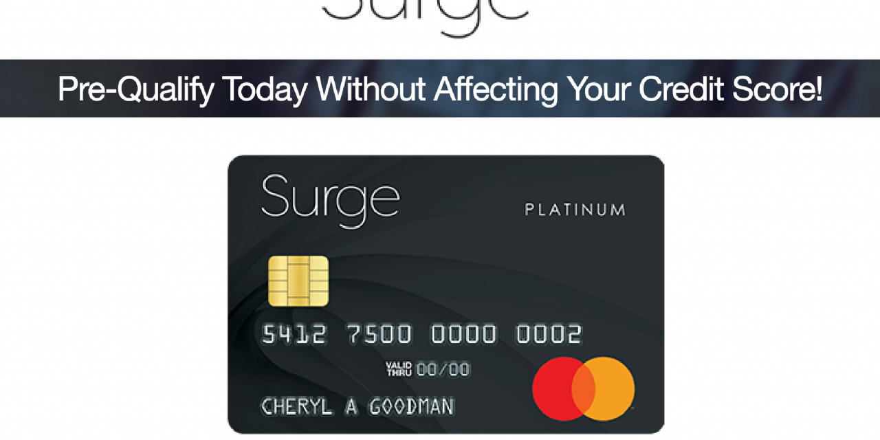 The Surge Mastercard® Could Help You Re-Build Your Credit My